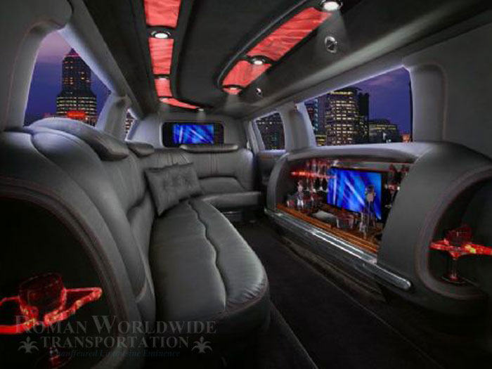 Beautiful Interior of our Lincoln MKT Luxury Stretched Limousine